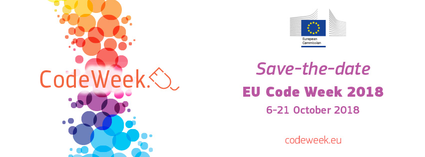 code week 2018 save the date web banner